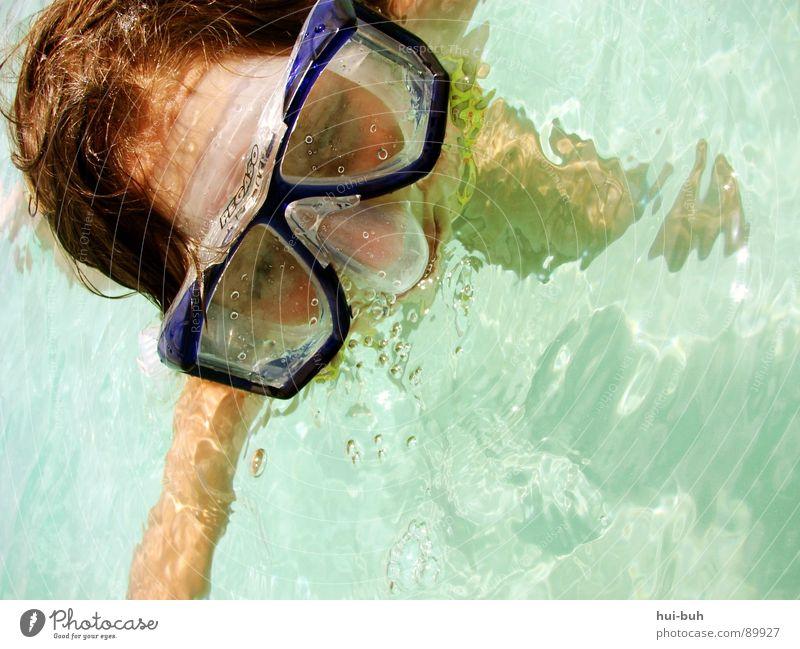 Ein Stückchen Urlaub.. Wasser Mädchen Ferien & Urlaub & Reisen Sommer Freude ruhig Auge Haare & Frisuren Wärme Luft träumen nass Schwimmen & Baden Brille Sauberkeit Klarheit