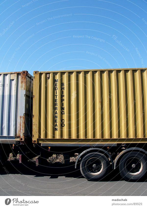 DINGS TO THE BUMS aka fdba<nfetRWEBNHRWBWE Lastwagen Fass Güterverkehr & Logistik Himmel frisch Verkehr Kraft transit PKW Gefolgsleute Container sky Lager