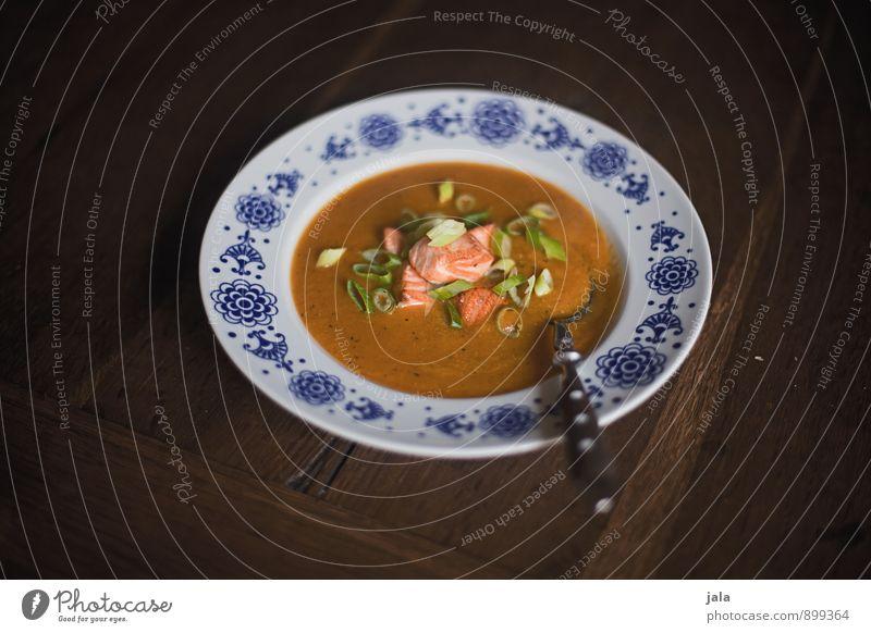 kürbissuppe Gesunde Ernährung natürlich Gesundheit Speise Lebensmittel Foodfotografie frisch Fisch Gemüse lecker Appetit & Hunger Bioprodukte Teller Mittagessen