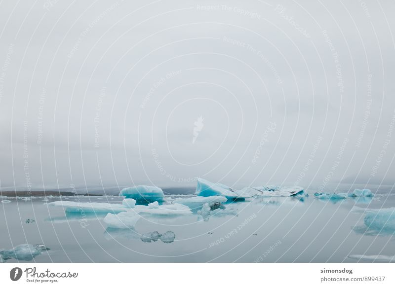 I'm in Iceland. Natur Landschaft Urelemente Wasser Wolken Winter Nebel Eis Frost Meer See Zufriedenheit Idylle Klima rein Ferien & Urlaub & Reisen Eisberg