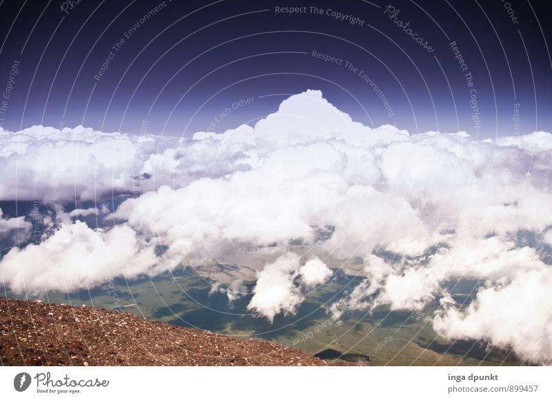 Mount Cloud Himmel Natur Ferien & Urlaub & Reisen Landschaft Wolken kalt Umwelt Berge u. Gebirge Herbst träumen Luft Klima Aussicht Schönes Wetter Urelemente Abenteuer
