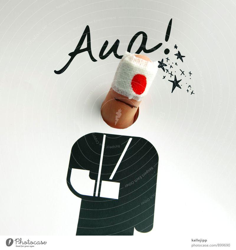 gute besserung! Mensch Gesundheit Kunst Gesundheitswesen Finger Fitness Stern (Symbol) sportlich Krankheit Körperpflege Schmerz Medikament Arzt Krankenhaus Comic Unfall