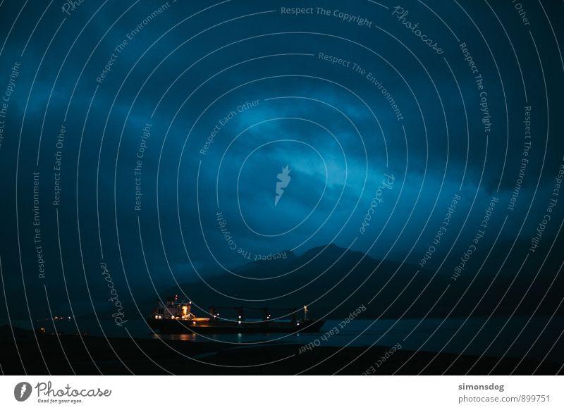I'm in Iceland. Ferien & Urlaub & Reisen Wasser Berge u. Gebirge Beleuchtung Güterverkehr & Logistik Fluss Verkehrswege Schifffahrt Island Bootsfahrt