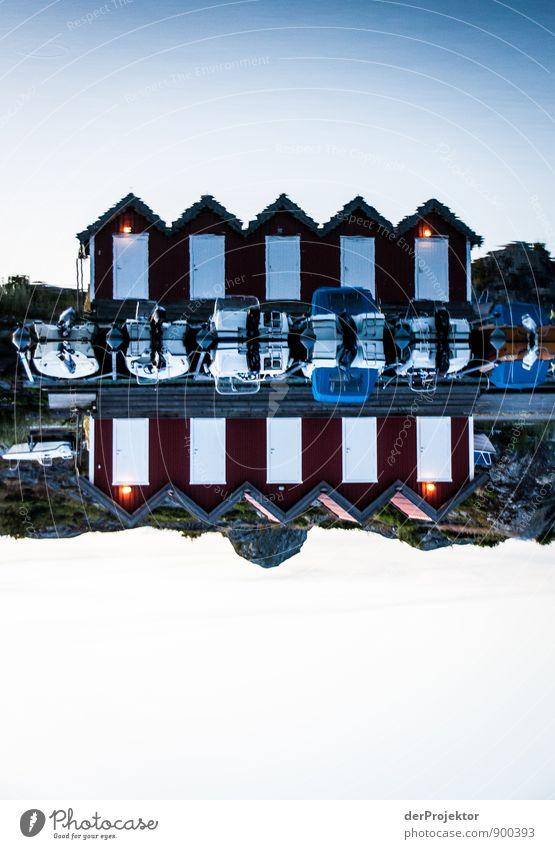 Wie man es auch dreht: Boote und Hütten Natur Ferien & Urlaub & Reisen alt Wasser Sommer Landschaft Haus dunkel Umwelt Gefühle Küste Freizeit & Hobby Tourismus