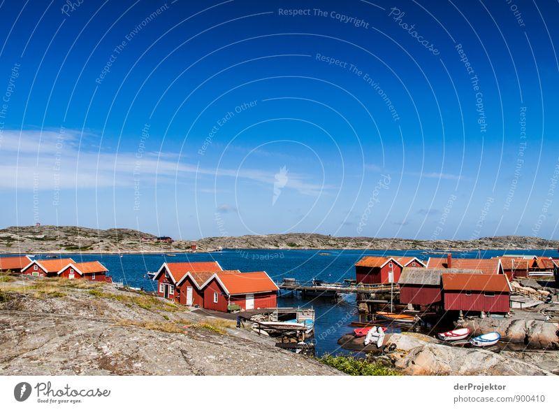 So lebt also der Schwede Natur Ferien & Urlaub & Reisen Sommer Meer Landschaft Freude Umwelt Gefühle Küste Stimmung Felsen Freizeit & Hobby Tourismus Insel