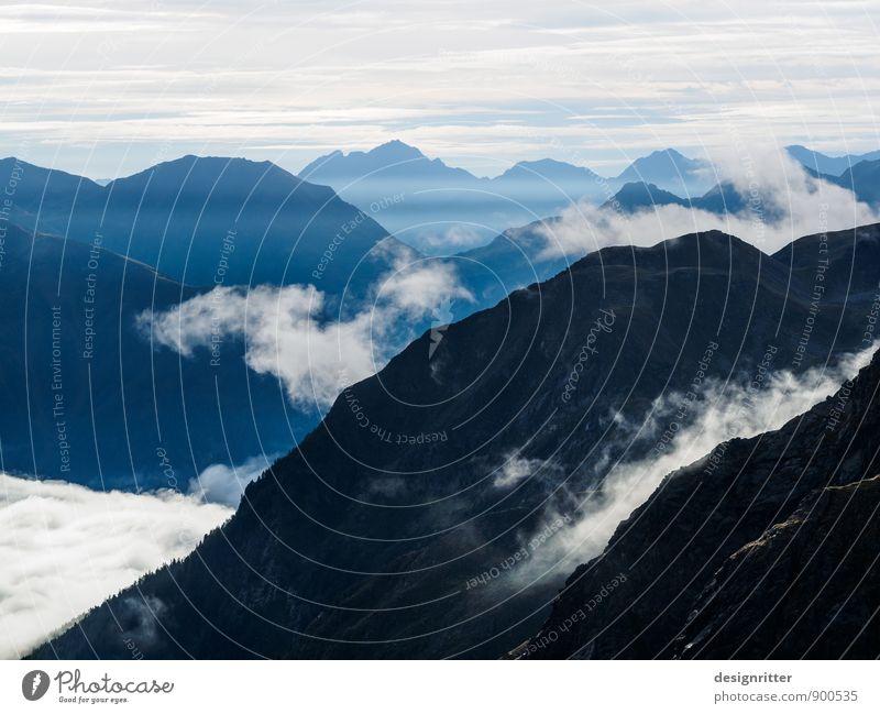 Zwergenland Ferien & Urlaub & Reisen Abenteuer Ferne Freiheit Berge u. Gebirge Himmel Wolken Klima Wetter Nebel Felsen Alpen Gipfel Österreich Bundesland Tirol