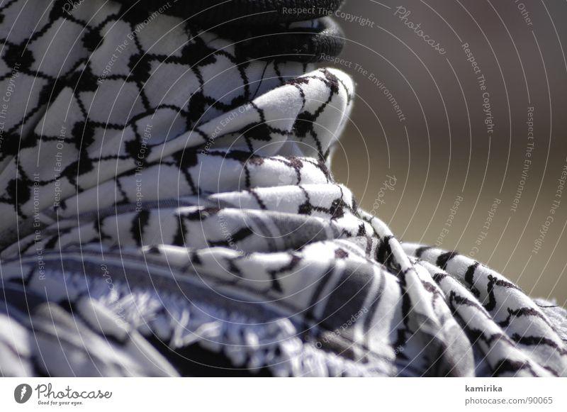 ramallah-look Araber Arabien Kopftuch Allah Islam Jerusalem Israel Demonstration Asien West Bank Ramallah Palaestinenser Palästina Keffiyeh Nahaufnahme