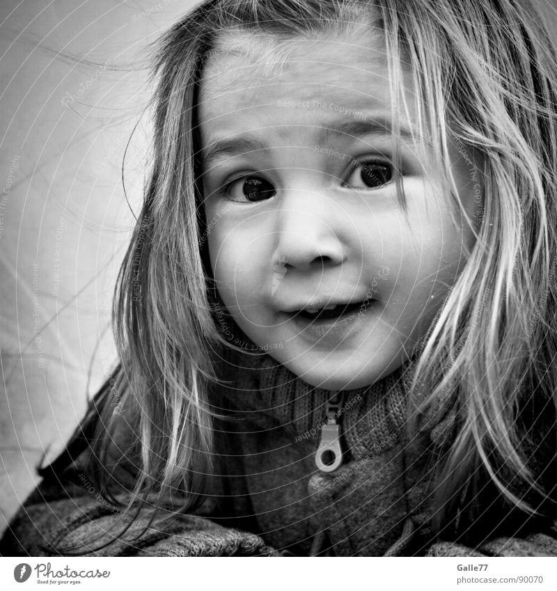 Joanna Porträt Mädchen Kind wach Spielen süß schön Fröhlichkeit Leben clever Freude Lebensfreude geistreich Kleinkind Gesichtsausdruck Dynamik lachen Natur