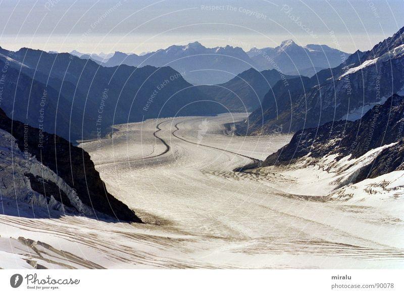 Ausblick Jungfraujoch Aletschgletscher Schweiz Gletscher Weltkulturerbe Berge u. Gebirge Eis Spinx Alpen Weltnaturerbe Schnee