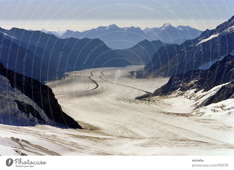 Ausblick Jungfraujoch Schnee Berge u. Gebirge Eis Schweiz Alpen Gletscher Weltkulturerbe Aletschgletscher