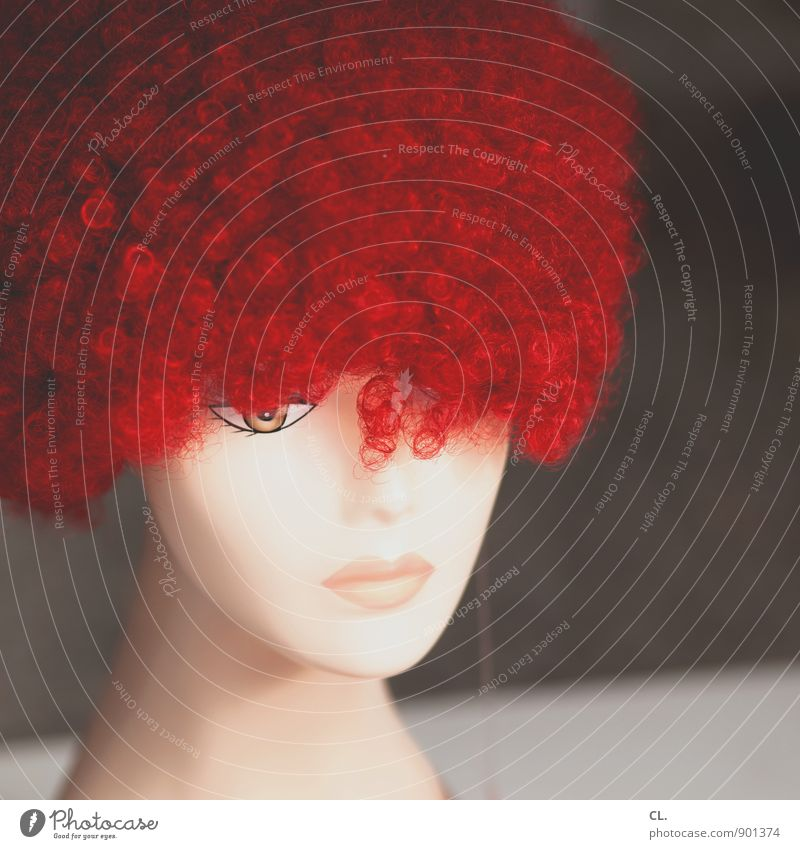 perücke Mensch Frau schön rot Erwachsene Auge feminin Haare & Frisuren Party Wandel & Veränderung einzigartig kaufen Karneval Locken Kosmetik rothaarig