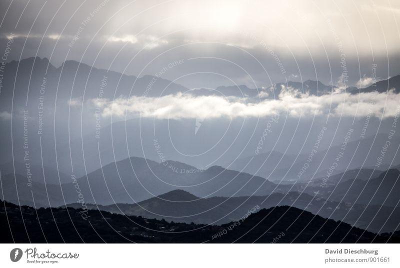 Bergzauber Himmel Natur Ferien & Urlaub & Reisen blau weiß Sommer Baum Landschaft Wolken Ferne schwarz gelb Berge u. Gebirge Herbst Küste Frühling