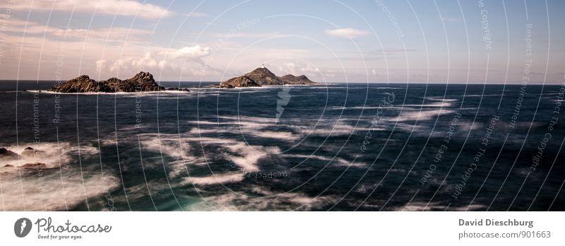 Meeresrauschen Himmel Natur Ferien & Urlaub & Reisen blau schön weiß Wasser Sommer Landschaft Wolken Ferne schwarz gelb Herbst Küste