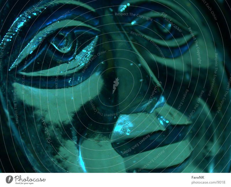 Gesicht grün Fototechnik trauig Glas