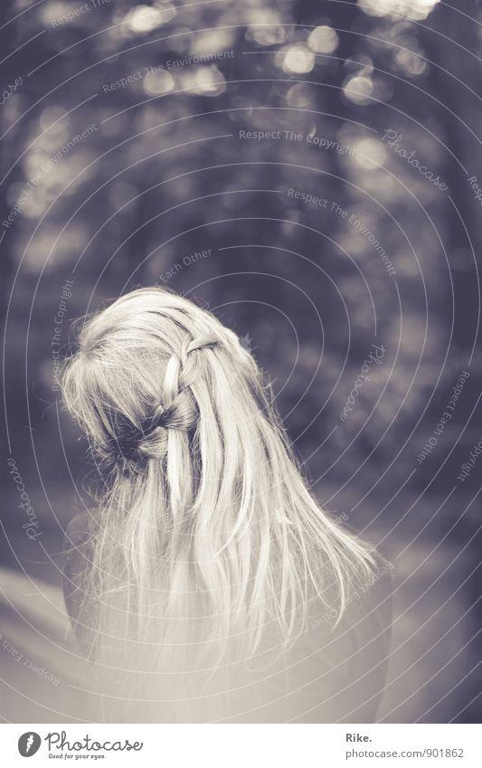 Träumerei. Mensch Kind Jugendliche schön Junge Frau Einsamkeit 18-30 Jahre Erwachsene Traurigkeit Gefühle feminin Haare & Frisuren Kopf träumen blond