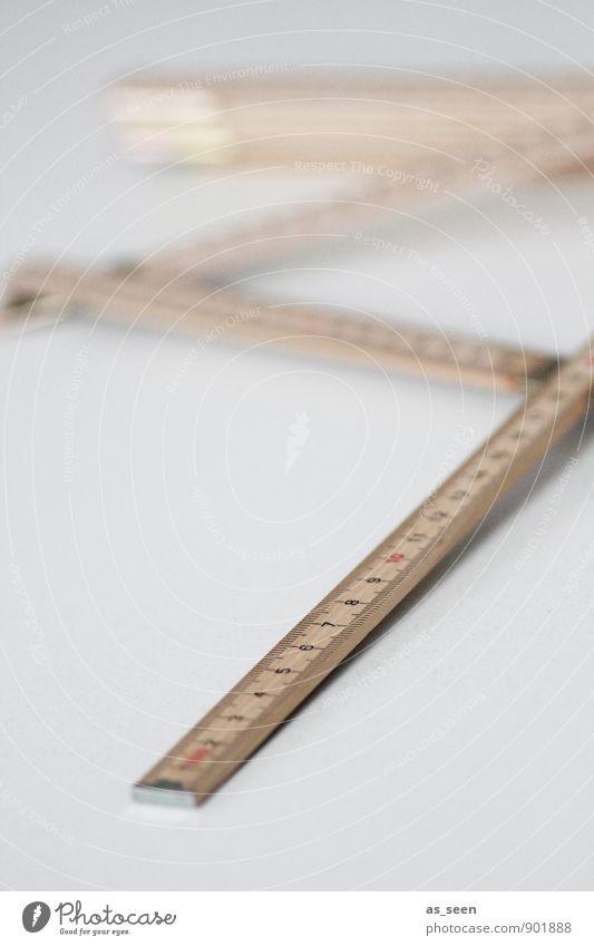 Immer am Mann kalt Architektur Holz braun authentisch Perspektive einfach Kreativität planen Ziffern & Zahlen zeichnen Kontrolle eckig Handwerker Präzision