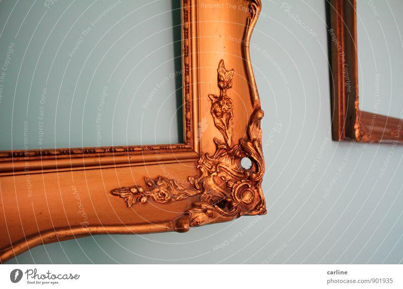 Aus dem Rahmen gefallen Kunst Künstler Museum Kunstwerk Menschenleer Dekoration & Verzierung Sammlung Sammlerstück Holz Gold Ornament eckig elegant einzigartig