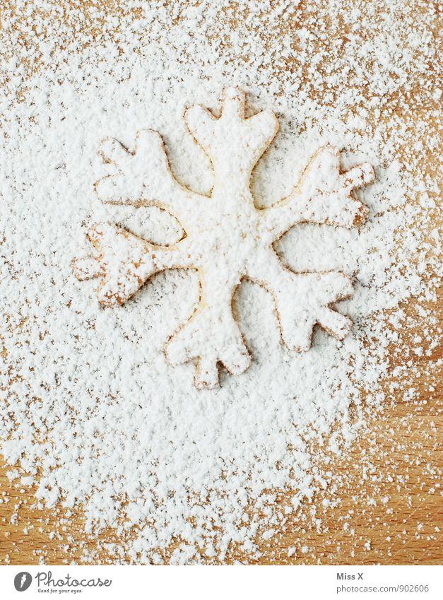 Plätzchen Weihnachten & Advent weiß Winter Schnee Lebensmittel Schneefall Eis Ernährung süß Frost lecker Backwaren Zucker Teigwaren Plätzchen Weihnachtsgebäck