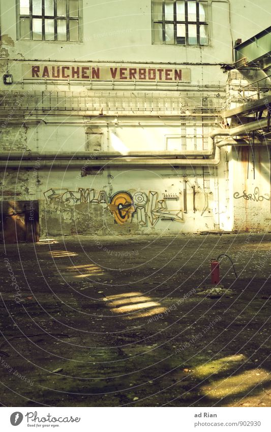 Geduld | länger leben. Renovieren Innenarchitektur Menschenleer Ruine Bauwerk Gebäude Architektur Mauer Wand Fassade Fenster Armut Dekadenz Endzeitstimmung
