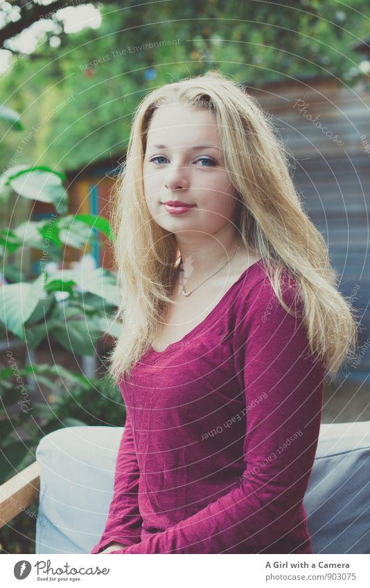 my sweet treasure Mensch feminin Junge Frau Jugendliche Haare & Frisuren 1 13-18 Jahre Kind Garten blond Coolness Freundlichkeit Fröhlichkeit Glück schön