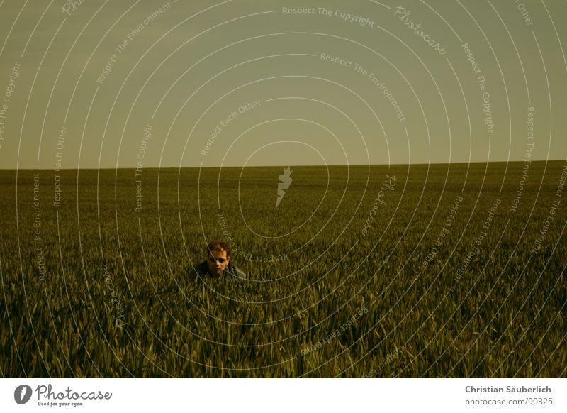 KUCKUCK Himmel grün blau Wiese Gras Haare & Frisuren Frühling Feld Horizont Sonnenbrille