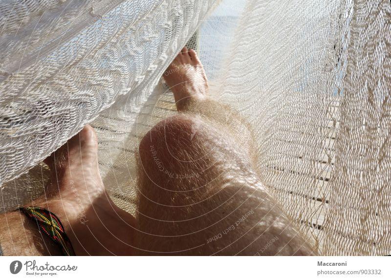 Sommer Sonne HÄNGEMATTE Ferien & Urlaub & Reisen Tourismus Ferne Sommerurlaub Meer Insel maskulin Junger Mann Jugendliche Erwachsene Beine Fuß 18-30 Jahre