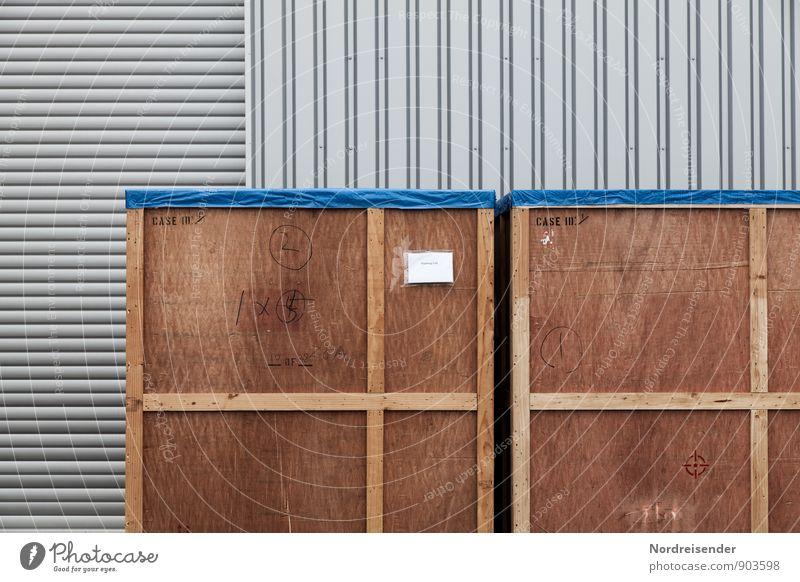 Logistik Arbeit & Erwerbstätigkeit Arbeitsplatz Fabrik Wirtschaft Industrie Güterverkehr & Logistik Verpackung Kasten Holz Metall Schilder & Markierungen