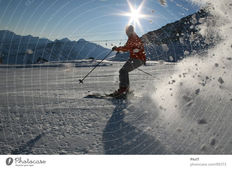 Ski to the max Tux Schneelandschaft Skier Wintersport Sonne Berge u. Gebirge Skipiste