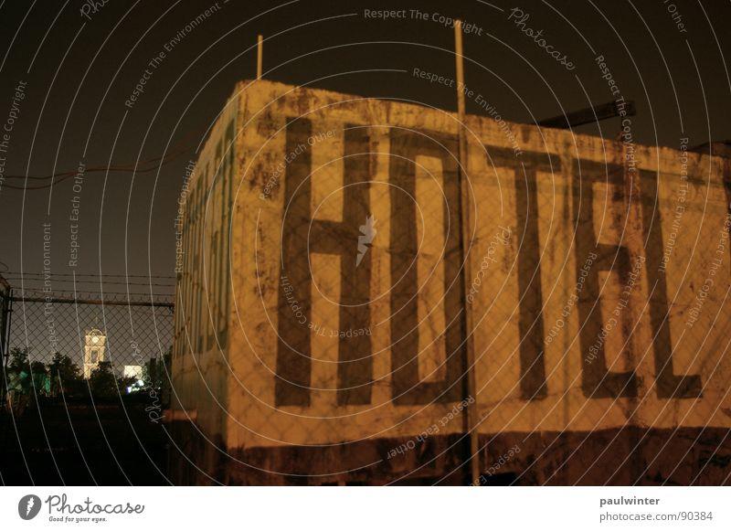 Hotel Ferien & Urlaub & Reisen Architektur Schriftzeichen Dach Nachthimmel Mexiko Amerika Nachtaufnahme