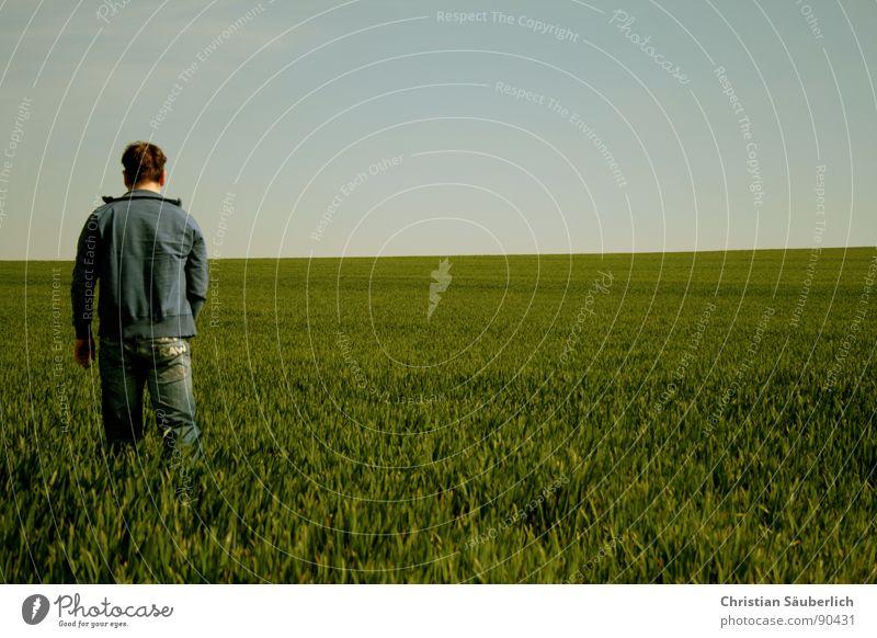 Delicate Sound of Summer grün blau Einsamkeit Frühling Feld gehen Horizont