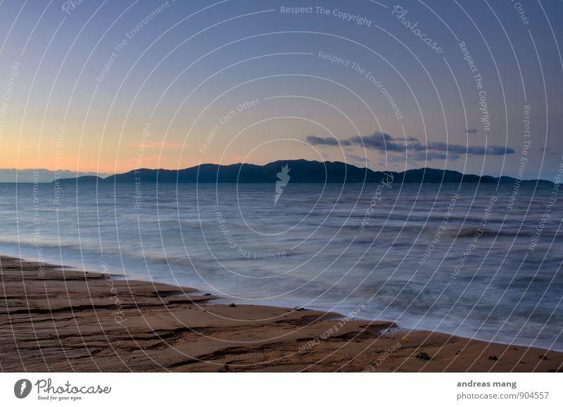 Die Insel Natur Ferien & Urlaub & Reisen Wasser Erholung Meer Einsamkeit Strand Ferne Bewegung Küste Freiheit Horizont Idylle Wellen Zufriedenheit Tourismus
