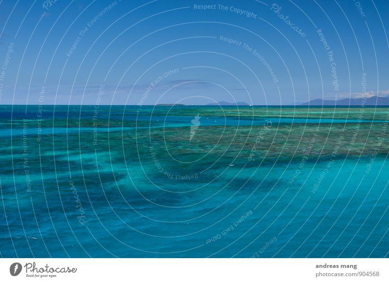 Blaue Weite Ferien & Urlaub & Reisen Tourismus Abenteuer Ferne Freiheit Meer Wasser Himmel Horizont Schönes Wetter Australien blau türkis Sehnsucht Heimweh
