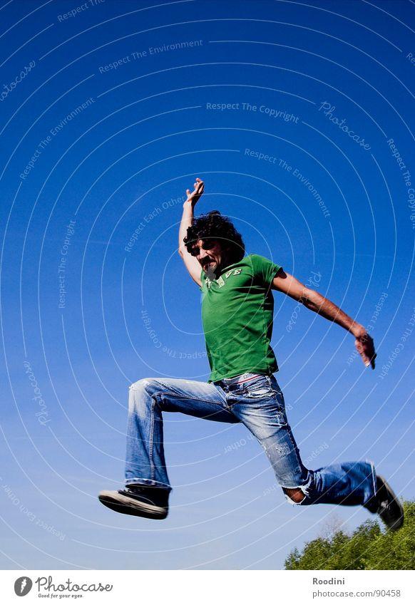jumpman junior RC1.4 Mann Ferien & Urlaub & Reisen Sommer Freude Leben Haare & Frisuren springen Tanzen fliegen laufen hoch Aktion Niveau Fitness Jeanshose dünn