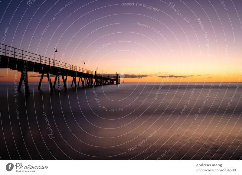 Ruhe Himmel Ferien & Urlaub & Reisen Wasser Meer Einsamkeit ruhig Ferne Küste Wege & Pfade Freiheit Horizont Freizeit & Hobby Tourismus Ausflug Beginn Zukunft