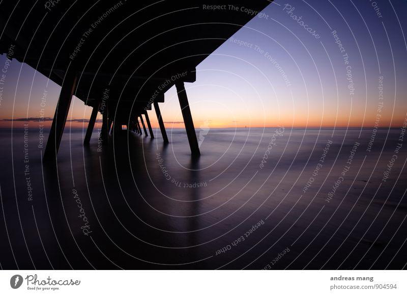 ruhige Stille Ferien & Urlaub & Reisen Wasser Meer ruhig Ferne Küste Wege & Pfade Freiheit Horizont Perspektive Ausflug Beginn Zukunft Abenteuer planen Hoffnung