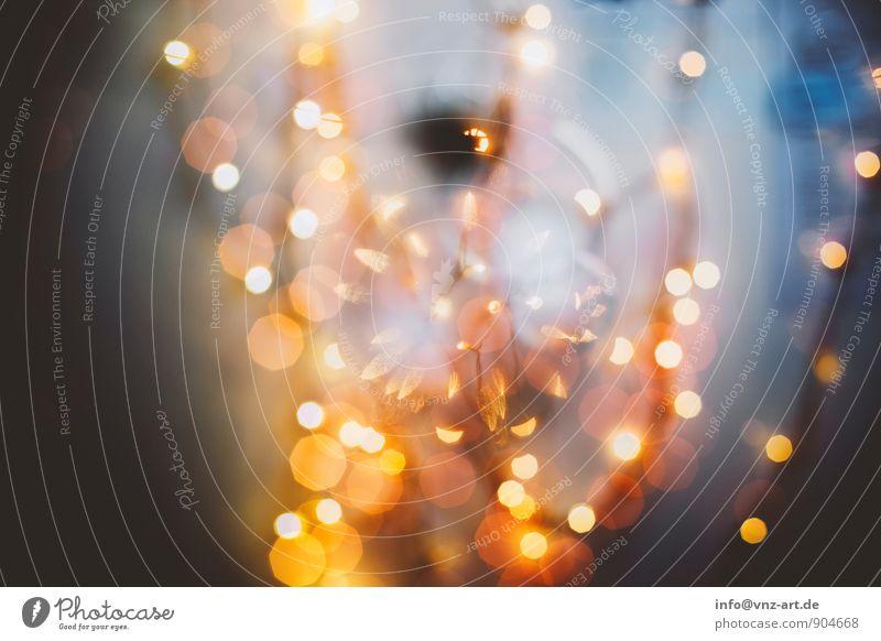Bokeh Häusliches Leben Lampe Veranstaltung Feste & Feiern Weihnachten & Advent Silvester u. Neujahr glänzend Lichterkette Weihnachtsdekoration