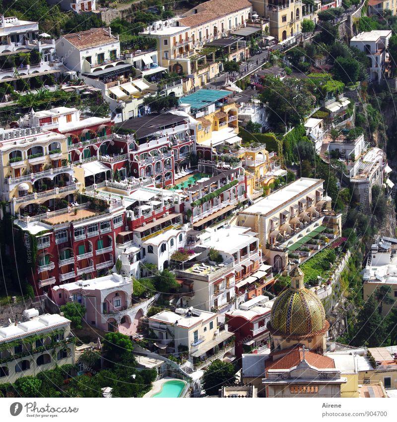 Bauklötzchen Ferien & Urlaub & Reisen Tourismus Städtereise Kreuzfahrt Sommerurlaub Badeurlaub Positano Campania Italien Südeuropa Dorf Fischerdorf Hafenstadt