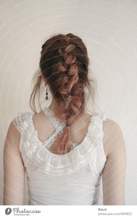 Das Mädchen mit dem Perlenohrring Stil Haare & Frisuren Mensch feminin Junge Frau Jugendliche Erwachsene Rücken Arme 1 18-30 Jahre Bekleidung Ohrringe rothaarig