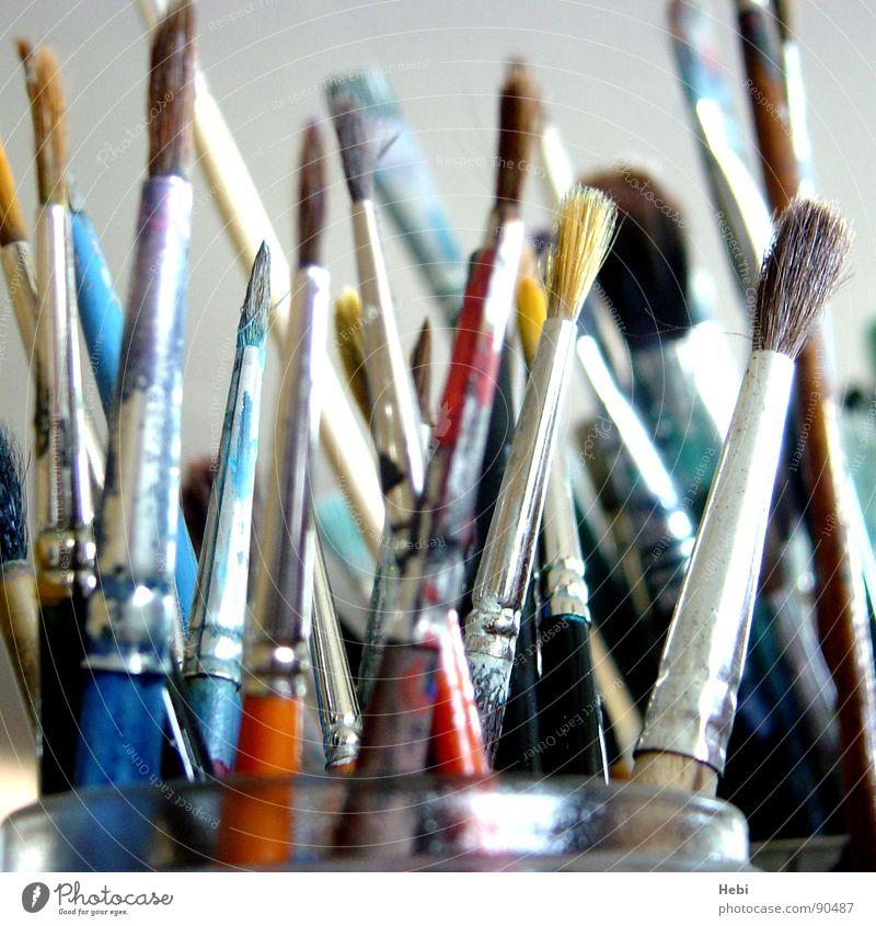 Pinselstrich Kunst Maler Atelier mehrfarbig Auswahl Kunsthandwerk Kultur Malpinsel Farbpinsel Farbe Kunstatlier Künstler streichen Brush Brushes