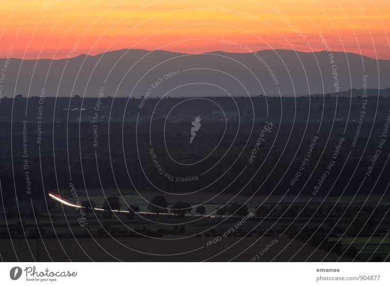 Es leuchtet am Oberrhein Ferien & Urlaub & Reisen Ausflug Ferne Freiheit Berge u. Gebirge wandern Natur Landschaft Himmel Wolken Horizont Sonnenaufgang