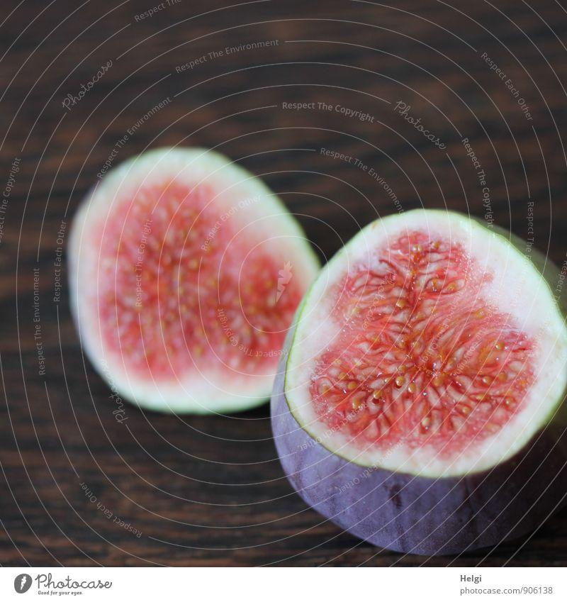 fruchtig... Lebensmittel Frucht Feige Ernährung Vegetarische Ernährung liegen ästhetisch einfach frisch Gesundheit lecker natürlich braun violett rosa weiß