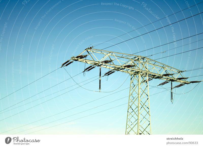 Fernstorm 4 grün Ferne Wiese Gras Industrie Hoffnung Energiewirtschaft Rasen Kommunizieren Stahl Strommast Optimismus breit Größe resignieren Waldwiese