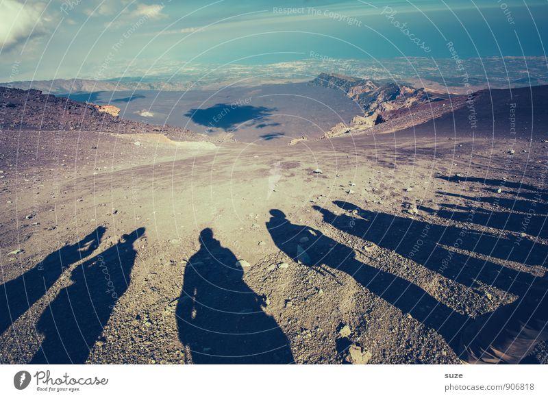 Erklärbärgruppe 2 Ferien & Urlaub & Reisen Tourismus Abenteuer Expedition Berge u. Gebirge wandern Team Mensch Menschengruppe Umwelt Natur Gipfel Vulkan stehen