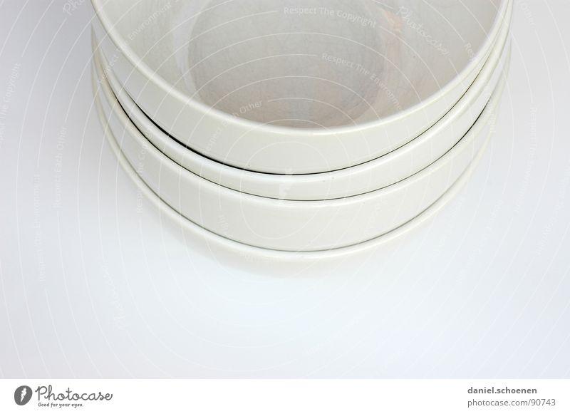 frisch gespült weiß grau Linie hell Hintergrundbild Kreis Küche Dekoration & Verzierung Geschirr Kurve Keramik