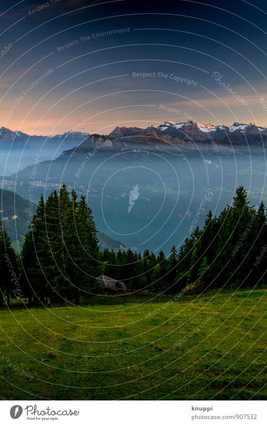 Rigi Scheidegg / Zentralschweiz (Nr. 2) Umwelt Natur Landschaft Luft Wasser Himmel Wolkenloser Himmel Nachthimmel Horizont Sonne Sonnenaufgang Sonnenuntergang