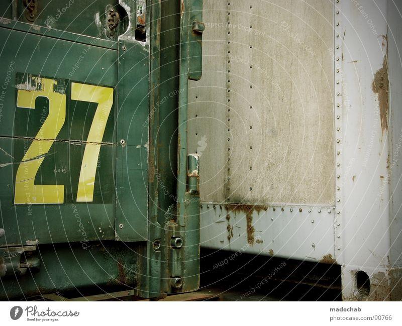 2TWENTYSEVEN7 TWO Güterverkehr & Logistik Typographie Beschriftung Stahl zusätzlich Komplementärfarbe mehrfarbig Ecke Lastwagen Ziffern & Zahlen Jubiläum