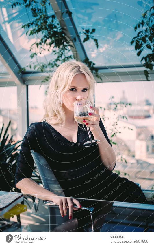 Pflanze schön Erholung Blume Freude Erotik Wärme Leben feminin Stil Haare & Frisuren Feste & Feiern Freizeit & Hobby Lifestyle elegant blond