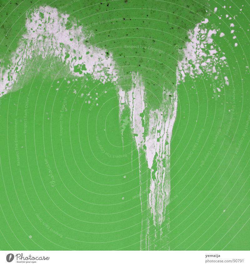daneben! grün weiß schwarz Wand spritzen Farbfleck Unfall Missgeschick Kruste Farbe Fleck Desaster dispersion