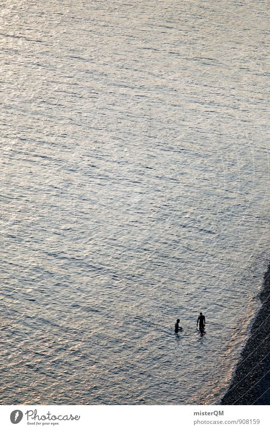 Zwei aus Nizza. Ferien & Urlaub & Reisen Meer Einsamkeit ruhig Strand Schwimmen & Baden Kunst Freizeit & Hobby Idylle Zufriedenheit ästhetisch abgelegen