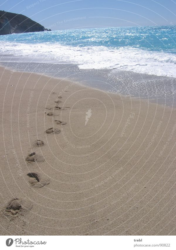 paradice path Sommer Strand Lefkas Greece. Lefkada Islands Sand sun alone together.